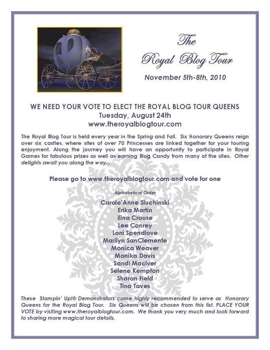 Royal Blog Tour VOTE